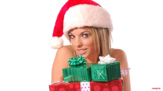 Csurga - Gyönyörű karácsonyi csajos hátterek 2